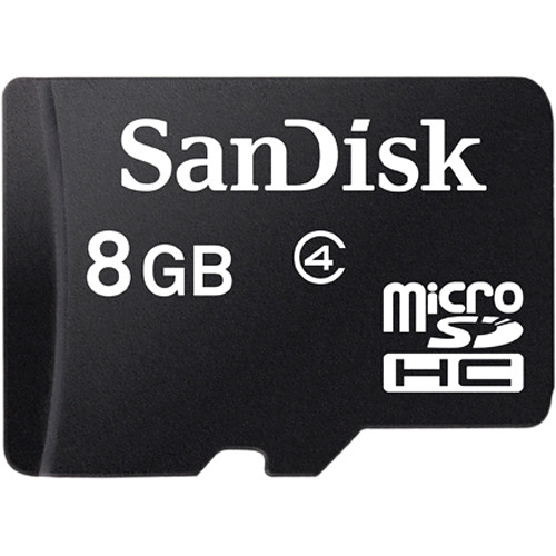 SanDisk microSDHC Memory Card with Adapter
