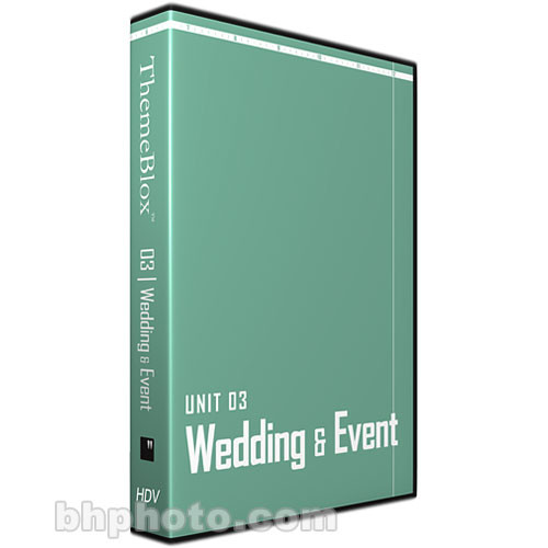 12 Inch Design ThemeBlox HDV Unit 03 - Wedding & Events