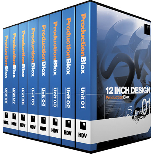12 Inch Design ProductionBlox HDV Unit 01-08 - General Purpose Hi-Definition Royalty-Free Animated Backgrounds Collection - 1440x1080 29.97p - DVD