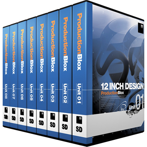12 Inch Design ProductionBlox SD 8-Pack Unit 01 to 08 - General Purpose Royalty-Free Animated Backgrounds Collections - NTSC/PAL - DVD
