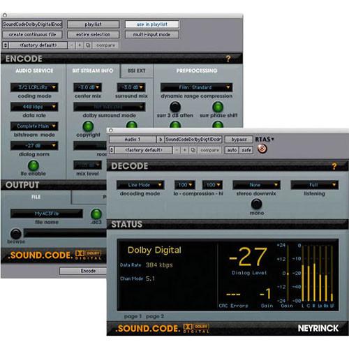 Digidesign Neyrinck SoundCode for Dolby Digital - For Pro Tools Software