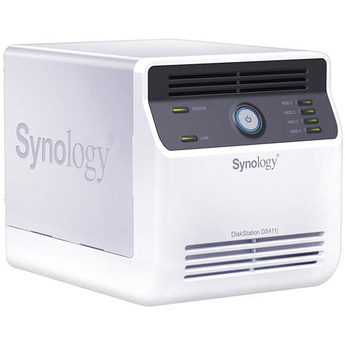 Synology DS411j DiskStation 4-Bay NAS Server (White)