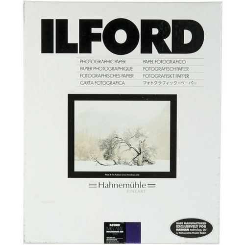30 Sheets Variable Contrast Black and White Matte Surfaced Fiber Based Photo Paper on a Textured Fine Art Base Ilford Multigrade Art 300 11x14