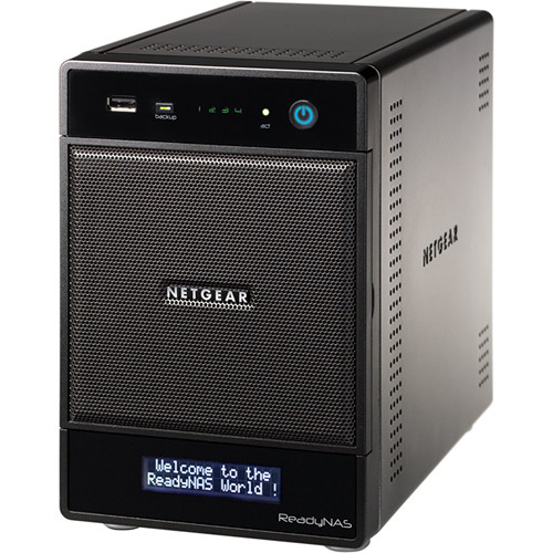 Netgear ReadyNAS ULTRA 4 Plus NAS Diskless Home Media Server with ISCSI