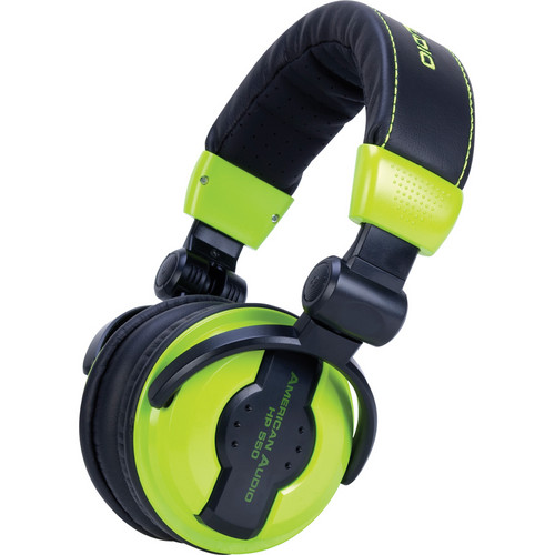 ADJ American Audio HP 550 Pro DJ Headphones (Lime)