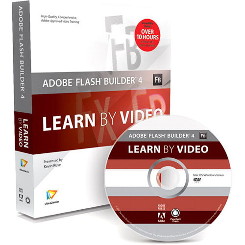 Pearson Education Book & DVD-ROM: Adobe Flash Builder 4: Learn by Video