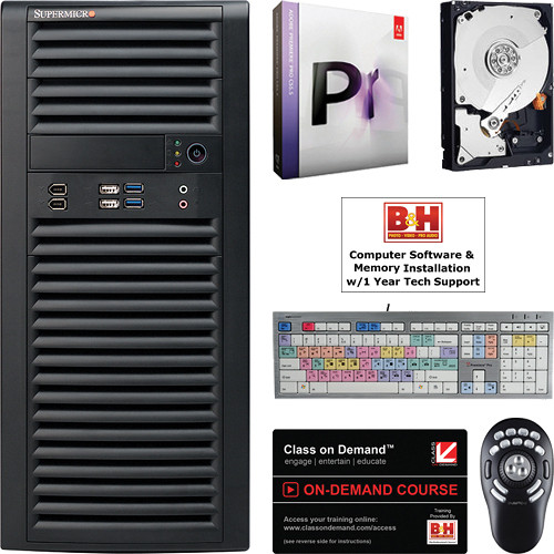 B&H Photo PC Pro Workstation SuperMicro / Adobe Premiere Pro 5 5  Entry-Level Turnkey Video Editing System