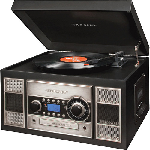 Crosley Memory Master 2 Turntable System with CD Player /& Auxiliary Port Black