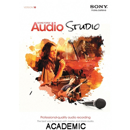 Sony Sound Forge Audio Studio 10  Discount