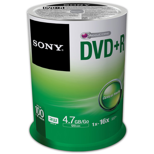 100-Pk Sony 4.7GB/120 DVD+R Disc(s) Spindle
