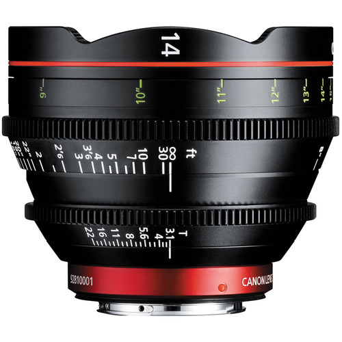 Canon CN-E 14mm T3.1 LF Cinema Prime Lens (montura EF)