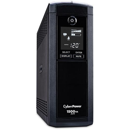 CyberPower CP1500AVRLCD Intelligent LCD 1500VA 900W 12-Outlet UPS