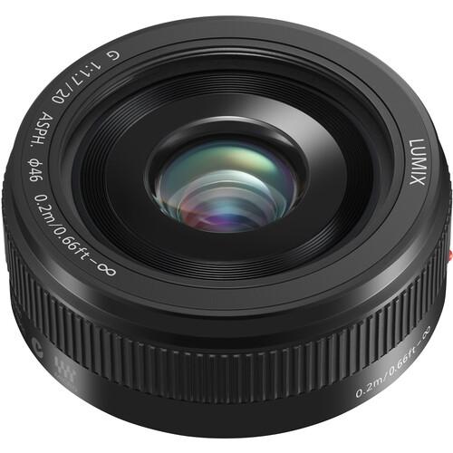 PANASONIC Lumix 20MM F1.7 CAMERA LENS BLACK METAL