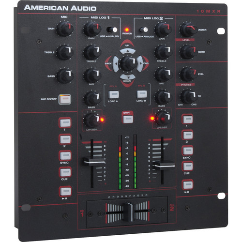 ADJ American Audio 10 MXR | 2-Channel MIDILOG Analog/MIDI Mixer