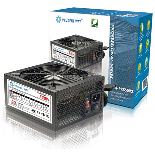 Prudent Way 550W Smart Fan Control Power Supply