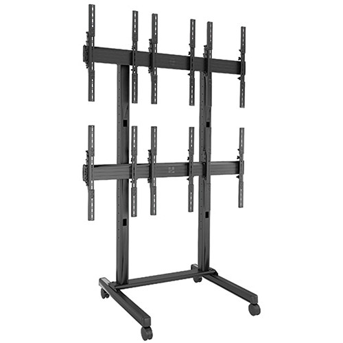 Chief (LVM3X2UP) FUSION 3 x 2 Portrait Micro-Adjustable Large Freestanding Video Wall Cart for 42 to 46