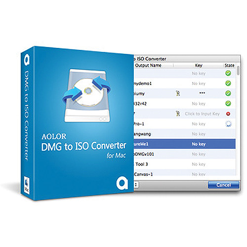 Aolor Software DMG to ISO Converter for Mac