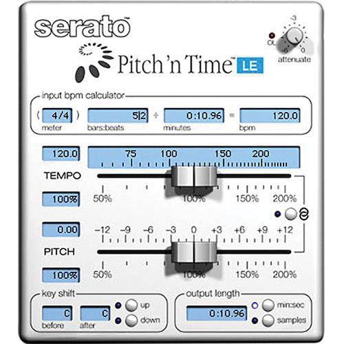 Serato Pitch 'n Time LE 3 0 - Time Stretching and Pitch Shifting Plug-In  Upgrade (Download)