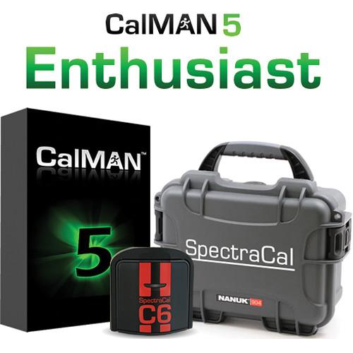 SpectraCal CalMAN Enthusiast Bundle with C6 Colorimeter