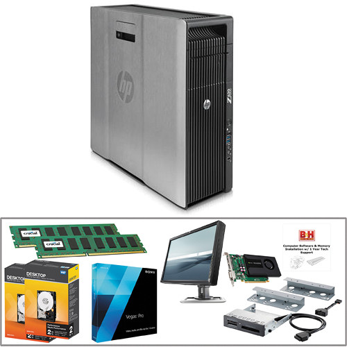 B&H Photo PC Pro Workstation HP Z620 Turnkey with Sony Vegas Pro 13 and  Quadro K2200 Graphics