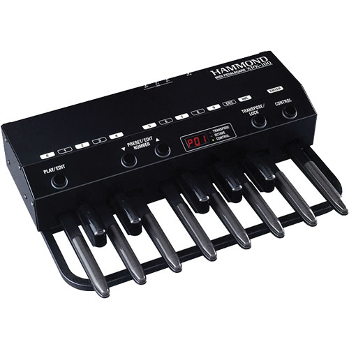 Hammond XPK-100 13-Note MIDI Pedal Board XPK-100 B&H Photo Video