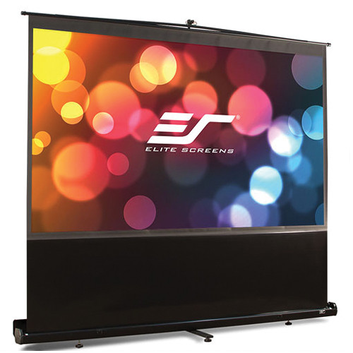 Elite Screens (F150NWH) F150NWH ezCinema Portable Front Projection Floor Screen (73.6 x 130.7