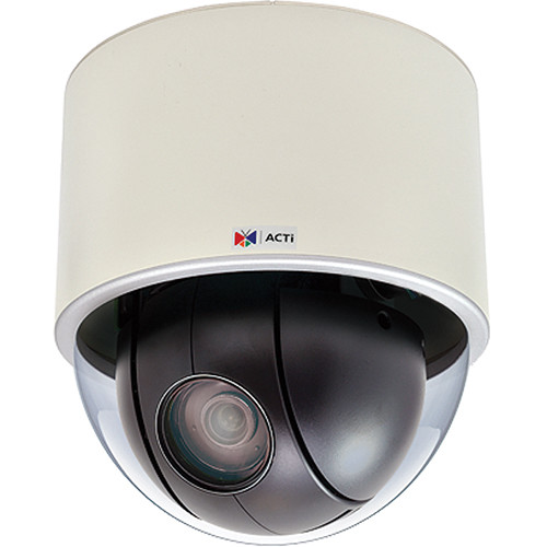 ACTi I912 4MP Indoor Day/Night Vandal Resistant PoE PTZ Camera with 4 5 to  148 5mm Varifocal Lens