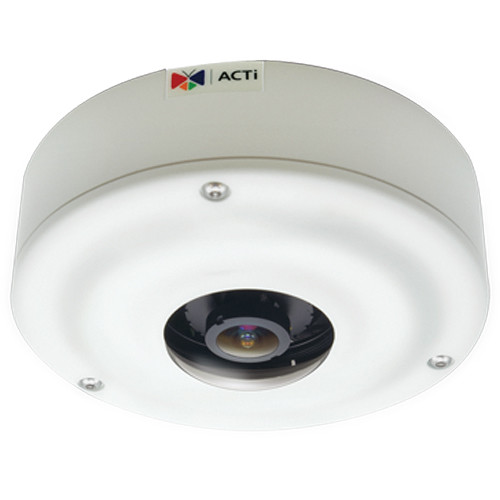 ACTi (I73) I73 6MP Day/Night Outdoor PoE Network Hemispheric Dome Camera with 1.3mm Fixed Lens