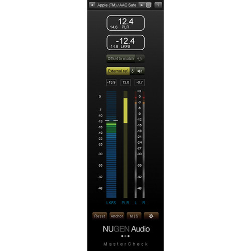 NuGen Audio MasterCheck - Music Industry Loudness and 11-33126