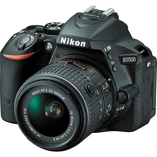 Nikon D5500 DX-format 24MP FHD DSLR Camera w/18-55mm Lens