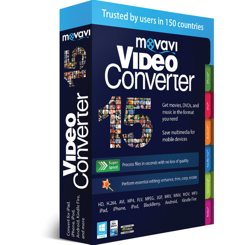 Movavi VideoConverter 15 Business Edition (Download) MVC15BE-ESD