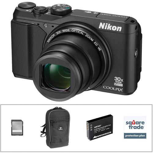 Nikon COOLPIX S9900 Digital Camera Deluxe Kit (Black)