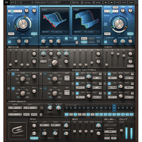 Waves Codex Wavetable Synth - Synthesizer Software (Native, Download)