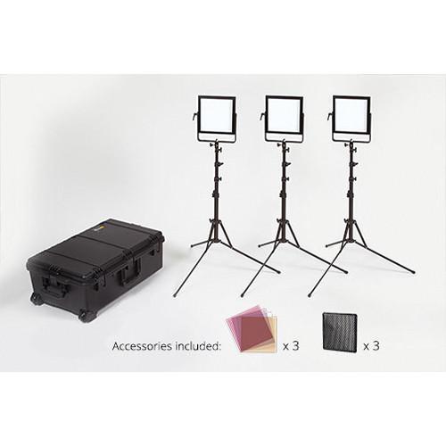 Rosco 3 Head Litepad Vector Cct Location Lighting Kit
