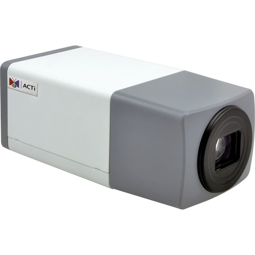 ACTi (E215) E215 3MP Day/Night PoE Box Camera with 2-Way Audio Support & 4.9 to 49mm Lens