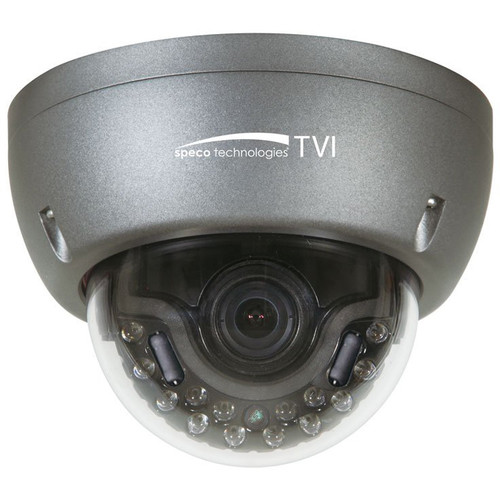 Speco Technologies (HT5941T) HD-TVI IR Indoor/Outdoor Dome Camera with 3.6mm Fixed Lens