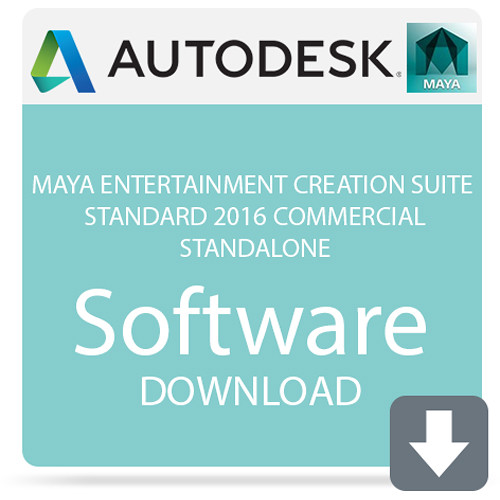 Autodesk Maya Entertainment Creation Suite Standard 2016 Commercial  Standalone (Download)