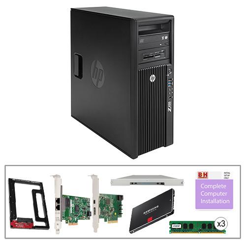 B&H Photo PC Pro Workstation Kit with Z420 Minitower F1M14UT Workstation,  LaCie 24TB 8big Thunderbolt 2 RAID, Crucial 12GB (3 x 4GB) DIMM DDR3 RAM,  HP