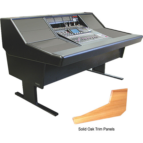 Argosy 70-Series Desk for Tascam DM-24 with Rack Space (Solid Oak Trim,  68 2