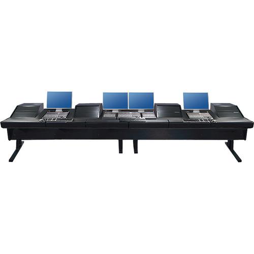 Argosy (90-90V4RGE-VR1003-B-B) V4RGE Universal Workstation Desk with Four VR1003 10U Front, 3U Rear Module (Black, 179