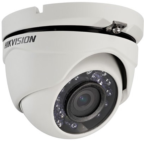 Hikvision (DS-2CE56C2T-IRM-3.6MM) TurboHD Series 720p Outdoor HD-TVI Turret Camera with 3.6mm Lens and Night Vision