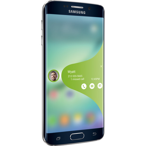 """Samsung Galaxy S6 Edge 5.1"""" AT&T 4G LTE 32GB Unlocked Android Smartphone - Black / White"""