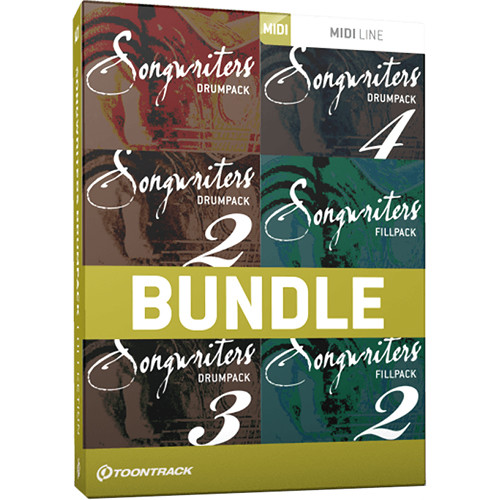 Toontrack Songwriters Drumpack Collection - MIDI Drum Groove Collection  (Download)