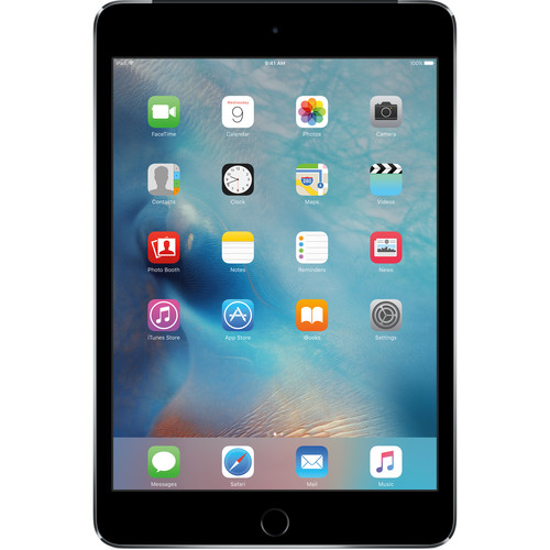 Apple (MK8D2LL/A) 128GB iPad mini 4 (Wi-Fi + 4G LTE, Space Gray)