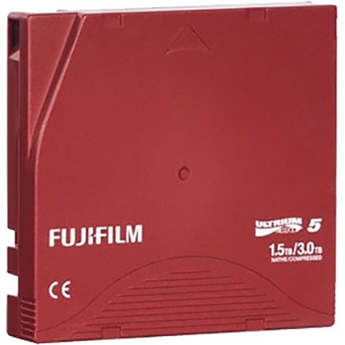 FUJIFILM LTO Ultrium-5 Data Cartridge Library Pack with P Cases (Custom  Barcode Labeled)