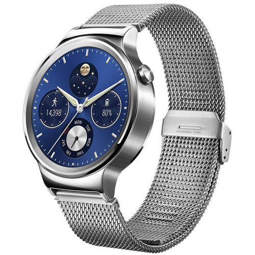 Huawei 42mm Stainless Steel Mesh Band Smartwatch + Free Band