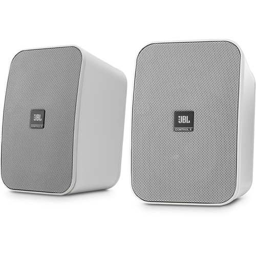 JBL (CONTROLXWHTAM) Control X All-Weather Indoor/Outdoor Speakers (Pair, White)