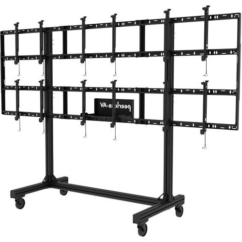 Peerless-AV (DS-C555-3X2) Portable Video Wall Cart for 46 to 55