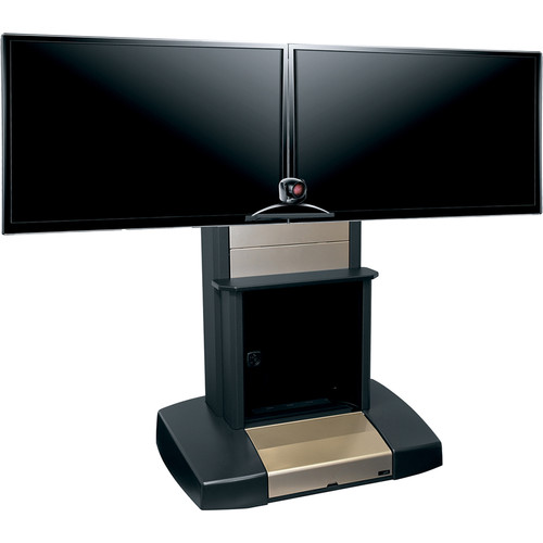 Middle Atlantic (IVTC-5670D-R) Mobile Videoconferencing/Presentation Cart with Dual Capacity for 56-70