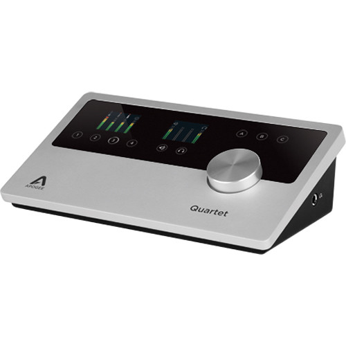 Apogee Electronics Quartet USB 2 0 Audio Interface for Mac, iOS & Windows  10 with Lightning Connector Cable